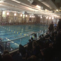 Photo taken at Carmel Aquatic Center at Carmel High School by Scott W. on 5/10/2014