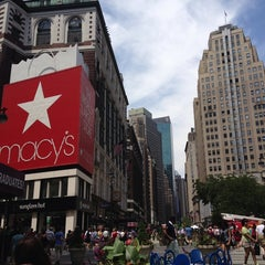 Photo taken at Herald Square by Linda W. on 5/31/2013