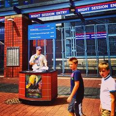Photo taken at US Open Sports Desk by PiRATEzTRY on 8/26/2013
