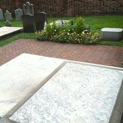 Photo taken at Benjamin Franklin's Grave by Sarah L. on 8/18/2013
