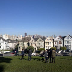 Photo taken at Alamo Square by Roeland D. on 1/12/2013