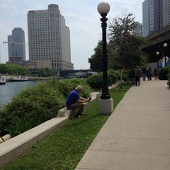 Photo taken at Chicago Riverwalk by Jessica on 6/9/2013