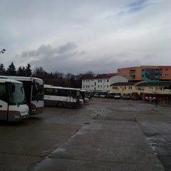 Photo taken at Autobusová stanica Nitra by Sabina J. on 2/4/2013