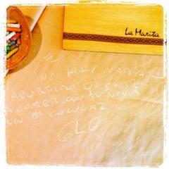 Photo taken at La Marita, Mate Bar by Pame on 3/15/2014