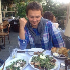 Photo taken at Cafe Michal (קפה מיכל) by Anna G. on 11/15/2014