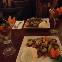 Photo taken at Sabai Sabai Thai Cuisine by Wendy W. on 2/23/2012