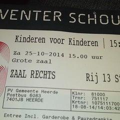 Photo taken at Deventer Schouwburg by Ar S. on 10/25/2014