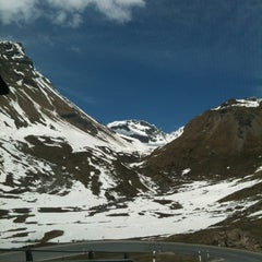 Photo taken at Julierpass by Ursina S. on 5/5/2013