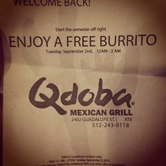 Photo taken at Qdoba Mexican Grill by Adam M. on 9/3/2013