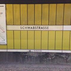 Photo taken at S Stuttgart Schwabstraße by Felix K. on 1/25/2013