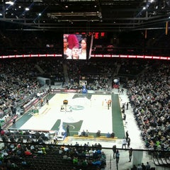 Photo taken at Žalgirio Arena | Zalgiris Arena by Rose M. on 4/4/2013