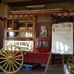 Photo taken at Falls City Restaurant & Pub by Julia D. on 3/23/2013