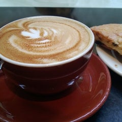 Photo taken at Comet Coffee by Han K. on 12/23/2012
