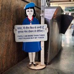 Photo taken at Qutab Minar Metro Station by Gina S. on 10/20/2013