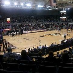 Photo taken at Minges Coliseum by Elizabeth Claire C. on 1/5/2013