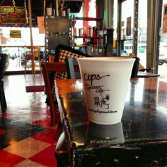 Photo taken at Cups, an Espresso Café by Anthony F. on 7/27/2013