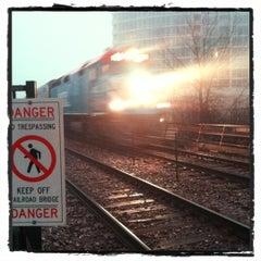 Photo taken at Metra - Evanston (Davis Street) by Tom O. on 12/3/2012