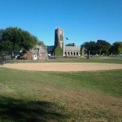 Photo taken at Waveland Clock Tower by Rudy R. on 9/30/2012