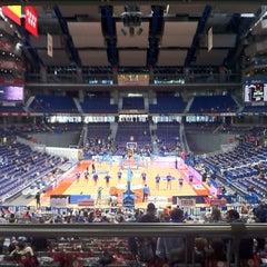 Photo taken at Barclaycard Center - Palacio de Deportes de la Comunidad de Madrid by Roberto P. on 10/27/2012