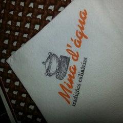 Photo taken at Restaurante Mina d'Água by Cássio L. on 1/16/2013