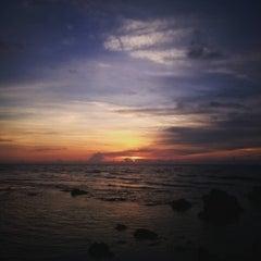Photo taken at Urbiztondo Beach by Cymer B. on 9/25/2015