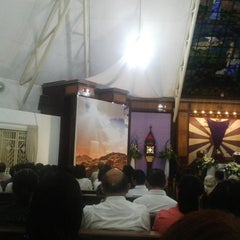 Photo taken at Gereja Katolik Santa Monika by Juniyanti on 4/2/2015