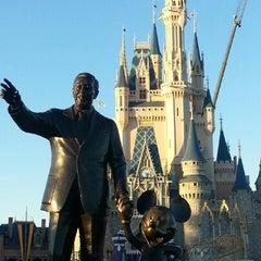 Photo taken at Cinderella Castle by Santi G. on 2/2/2013