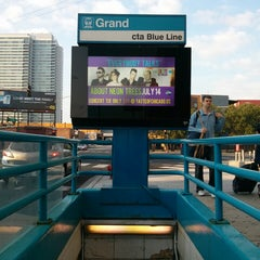 Photo taken at CTA - Grand (Blue) by Joseph P. on 7/4/2013