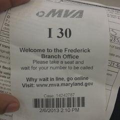 Photo taken at Maryland Motor Vehicle Administration (MVA) by Pereta R. on 2/6/2013