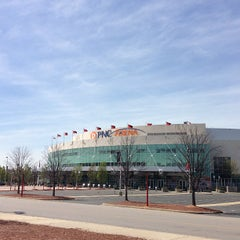 Photo taken at PNC Arena by Jefferson N. on 4/14/2013