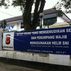 Photo taken at Polwiltabes Bandung by Fadjar N. on 1/19/2013