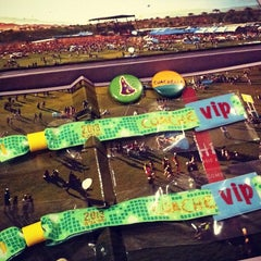 Photo taken at Coachella Main Entrance Line by Get a Badge on 4/11/2013