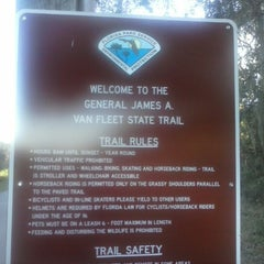 Photo taken at General James A. Van Fleet State Trail by Marisol P. on 1/31/2013