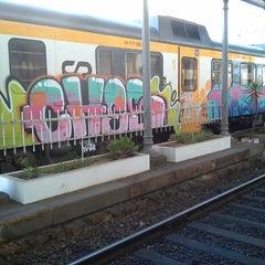 Photo taken at Estação Ferroviária de Viana do Castelo by Nuno F. on 10/21/2014