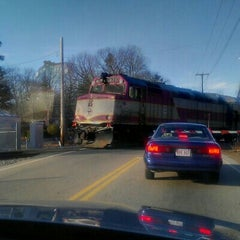 Photo taken at MBTA Canton Junction Station by Margie I. on 1/15/2013