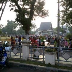 Photo taken at Lapangan Dwi Warna by Ferry R.A (. on 11/30/2013