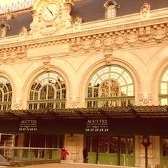 Photo taken at Gare de Lyon-Brotteaux by Lou A. on 1/25/2013