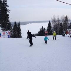 "Photo taken at Горнолыжный курорт ""Жебреи"" by Sergey R. on 2/3/2013"