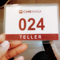 Photo taken at CIMB Niaga by ChaCha c. on 1/2/2014