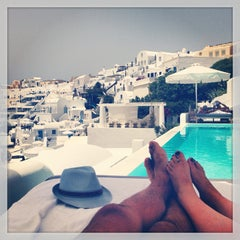 Photo taken at Katikies Hotel Santorini by Vincent N. on 6/19/2014