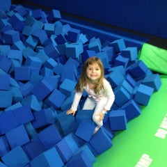 Photo taken at Bounce Trampoline Sports by Michael L. on 11/1/2014