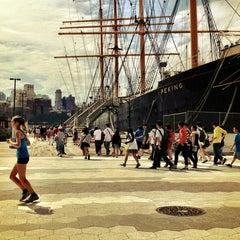 Photo taken at South Street Seaport by Jan B. on 7/26/2013