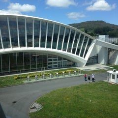 Photo taken at Aeropuerto de Bilbao (BIO) by Julie M. on 5/13/2013