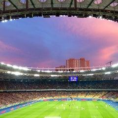 Photo taken at НСК «Олімпійський» / Olimpiyskiy Stadium by 🍀Sergey🍀 on 7/7/2013
