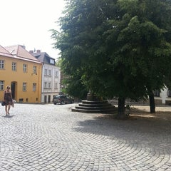 Photo taken at Žerotínovo náměstí by Jan M. on 7/7/2013
