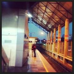 Photo taken at Metro Villa De Aragón (Línea B) by Miguel M. on 1/27/2013
