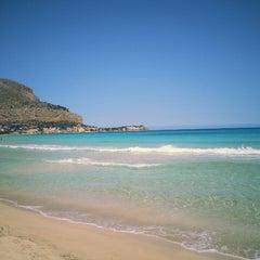 Photo taken at Spiaggia di Mondello by Nadia K. on 5/17/2013