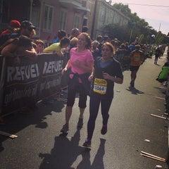 Photo taken at Rock n Roll Savannah Marathon Finish by Chris L. on 11/9/2013
