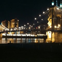 Photo taken at John A. Roebling Suspension Bridge by Bob L. on 4/9/2013