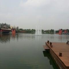 Photo taken at Setthasiri Prachachuen Lake by Bharot Y. on 3/16/2013